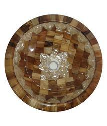 Wooden Inlay Washbasin