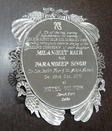 Silver Indian Wedding Invitation: Silver Wedding Cards Manufacturer From Delhi