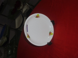 acrylic round 10 5 inch plate
