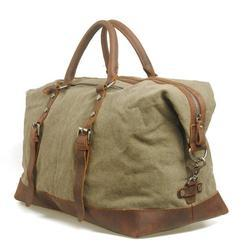 Canvas Duffle with Leather Trims