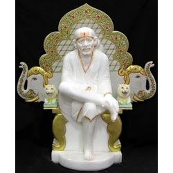 Sai Baba with Singhasan from Marble