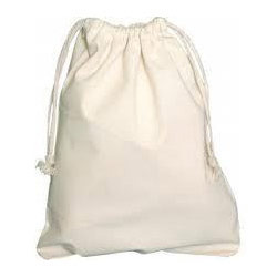 Bread Bag - Natural Cotton Drawstring Bags Exporter from Kolkata