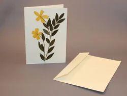 handmade paper greeting card