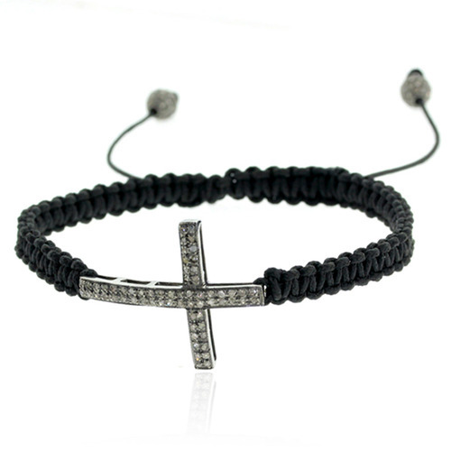 Handmade Diamond Charm Macrame Bracelet