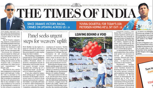 English Newspapers - Times of India Service Provider from ...