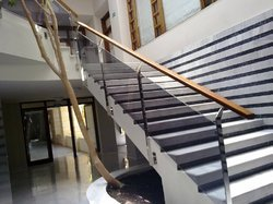 Designer SS Glass Commercial Railing