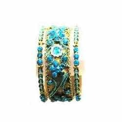 Blue Stone Studded Bangles