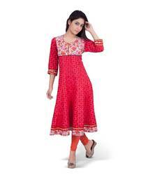 Indian Floral Printed Kurti