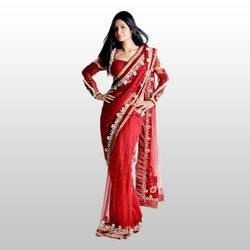 Saree with Lace Border