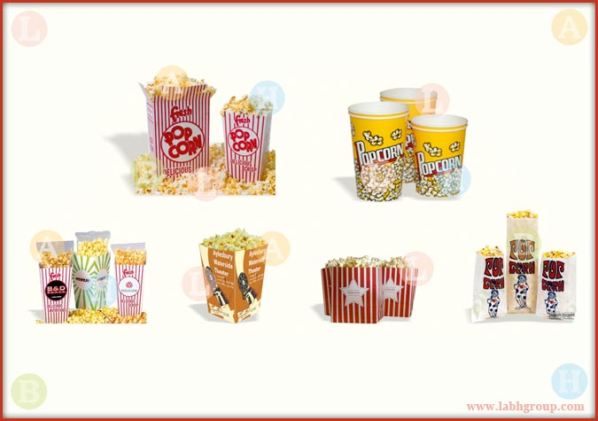 Printed Pop Corn Containers