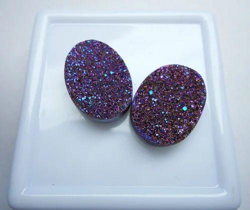 Flat Druzy Lavender