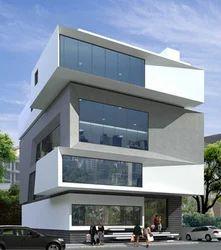 Apartments Exterior Design And Commercial Exterior Design Service Provider  | Grey Scale Design Studio, Bengaluru