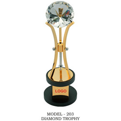 Metal Diamond Trophy