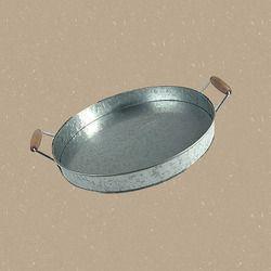 Round Steel Snack Tray