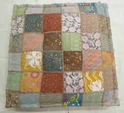 Embroidered Patchwork Chair Pad