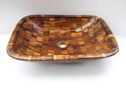 Table Top Wooden Washbasin