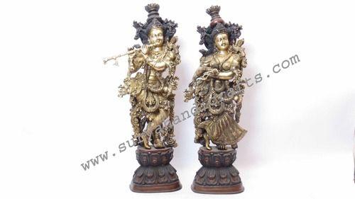 Bronze Radha Krishna Statue