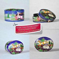 Paper Mache Hand Painted Small Candy Souvenier Box