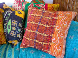 Kantha Quilt Cushion