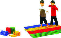 Children Balancing Footpath