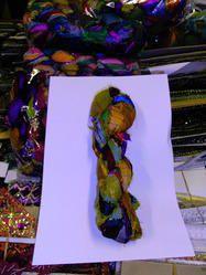 Multicolored Sari Silk Ribbons For Yarn and Fiber Stores