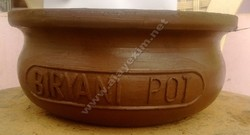 Clay Biryani Handi - Logo on Side