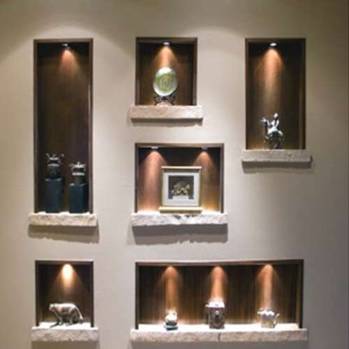 with a spot lighting fixture maryland wall niche niche design ideas