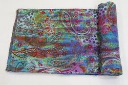 Kantha Quilt  Paisley Tye Dye Throw Bed Covers
