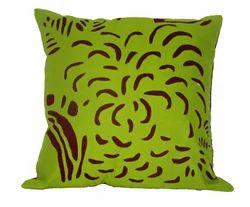 Cotton on cotton applique cutwork patch cushion cover
