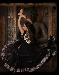 Readymade Anarkali Sut Black Color