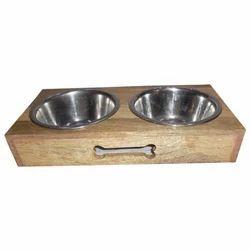 Wooden Double Diner Pet Feeder