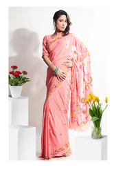 South Indian Pleasant Resham Embroidered Sarees