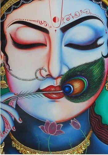Mixed Radha Krishna Painting