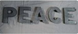 "Galvanized Holiday Words ""Peace"""