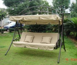Metal Swing With Fabric