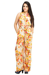 Cottinfab Floral Jumpsuit