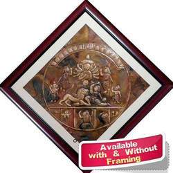 Copper Repousse - The Invincible Durga - Large Wall Decor