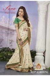 Stylish Designer Kanchipuram Saree With Blouse