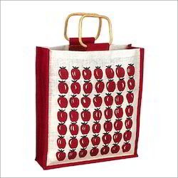 Strawberry Printed Jute Bags