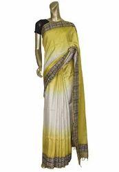 Handloom Tussar Silk Fabric Saree