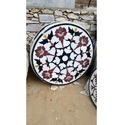 Circular In Shape Marble Chakra Table Tops