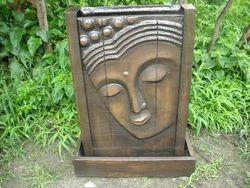 Wooden Effect Buddha Waterfalls