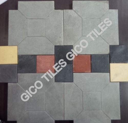 Cement Chequered Floor Tiles