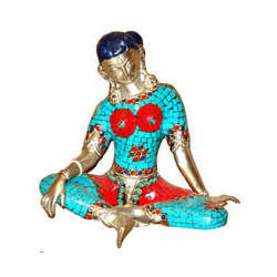 Parvati Sitting W/Out Base Silver Finish