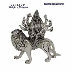 Silver Plated Durga Statue