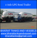 2 Axle LPG Semi Trailer