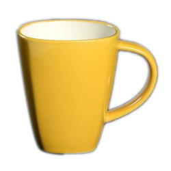 Two Tone Yellow Mugs