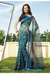 hand print charming designer printed sarees