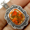 Red Copper Turkish Pendant