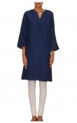 Blue V Neck Kurta